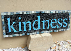 Photo of a kindness mosaic