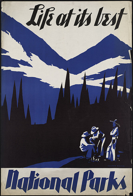 National Parks poster, courtesy of Boston Public Library