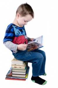 Photograph of child reading