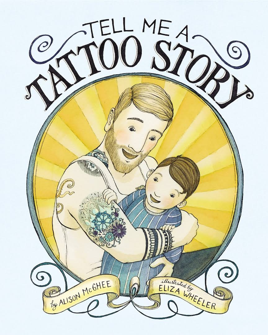 """""""Tell Me a Tattoo Story"""" book cover"""