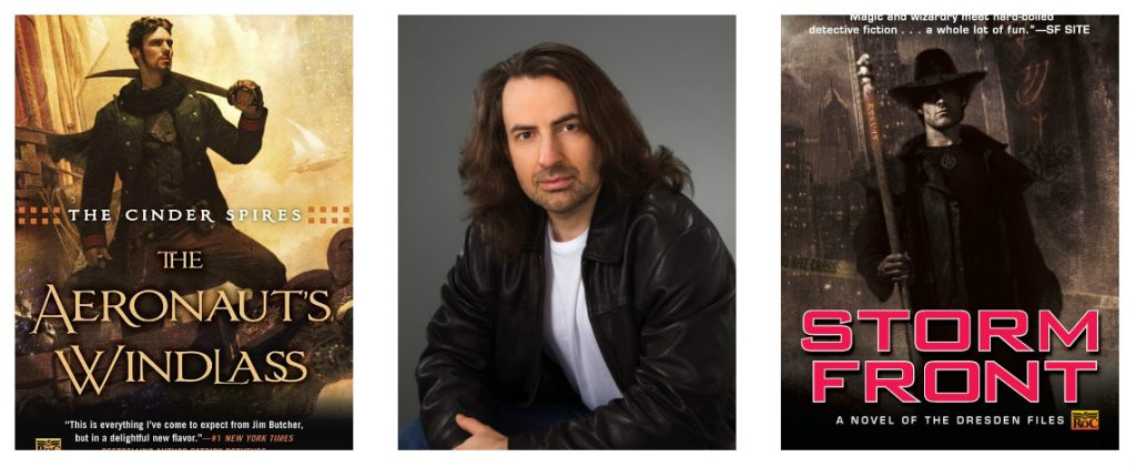 Photos of Jim Butcher, and book covers