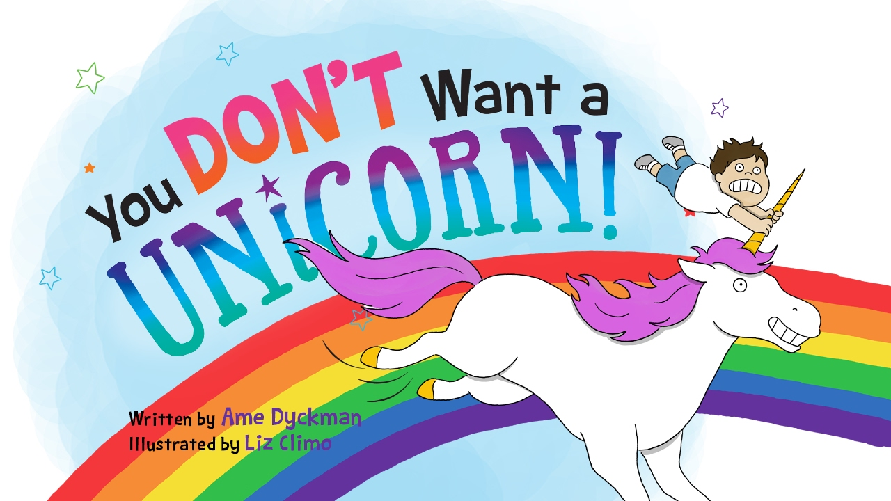 """You Don't Want a Unicorn"" book cover"