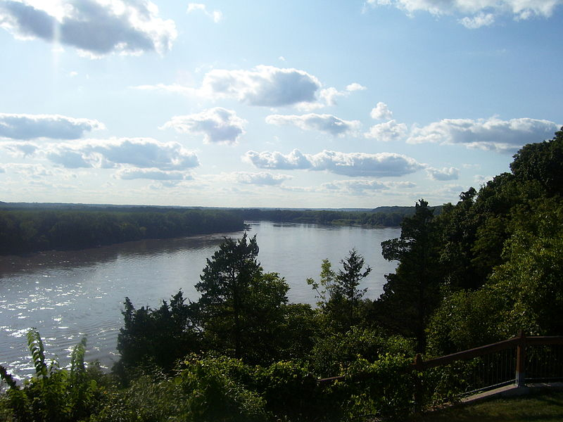 Photograph of lower Missouri River