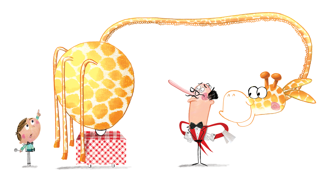 "Illustration from ""There's a Giraffe in My Soup"""