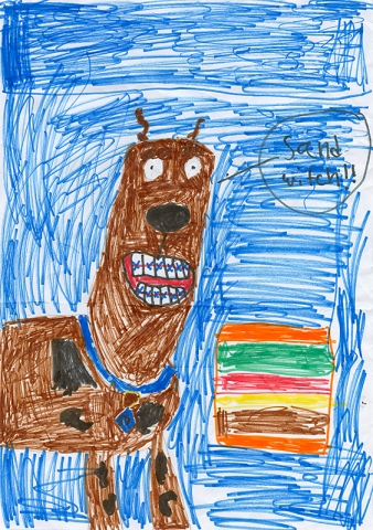 "Lyrik Gallup, Southern Boone County - ""Scooby-Doo and the Vicious Viking"" by James Gelsey"
