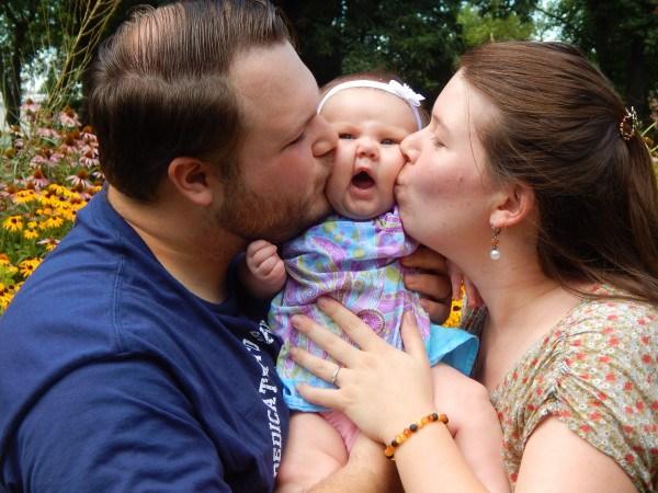 5 month old Rebekah, Nathana and Mitch Clay