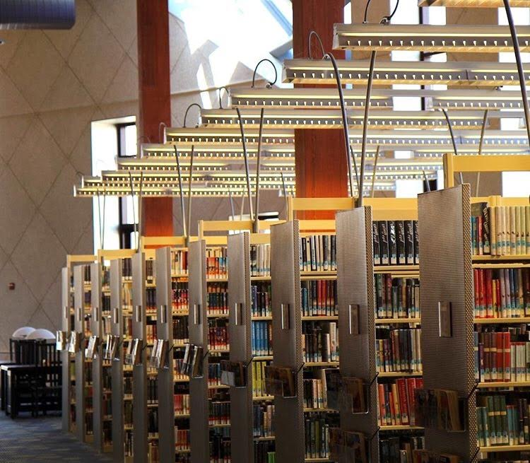 Photo of library stacks