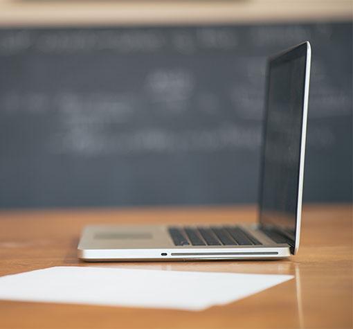 laptop in classroom