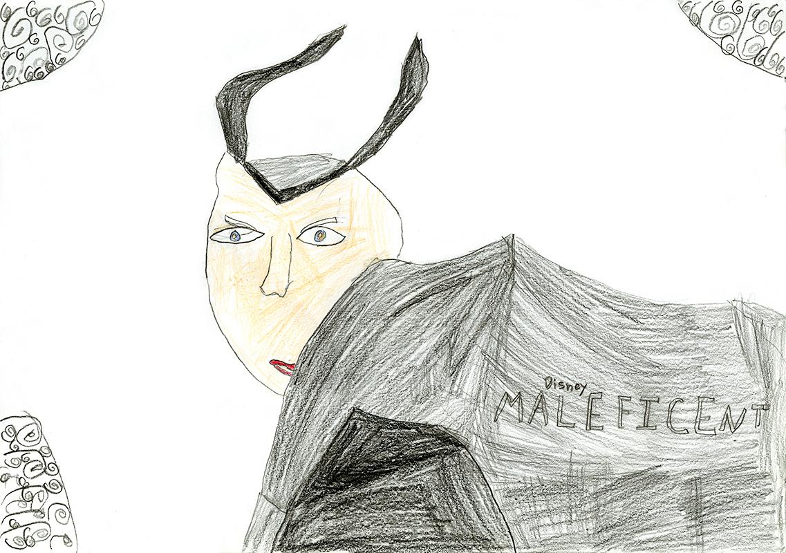 "Erica Rose Crowe, Hallsville Primary - ""Maleficent"" by Elizabeth Rudnick"