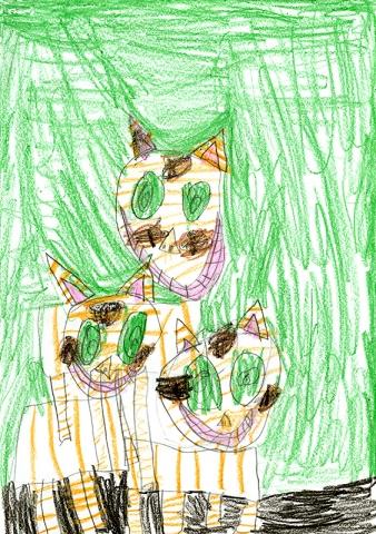 "Allie Sadler, Harrisburg Elementary - ""Cats"" by Seymour Simon"