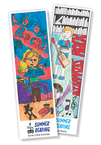 winning bookmarks from 2018 by Callie Jennings and Jiya Shetty
