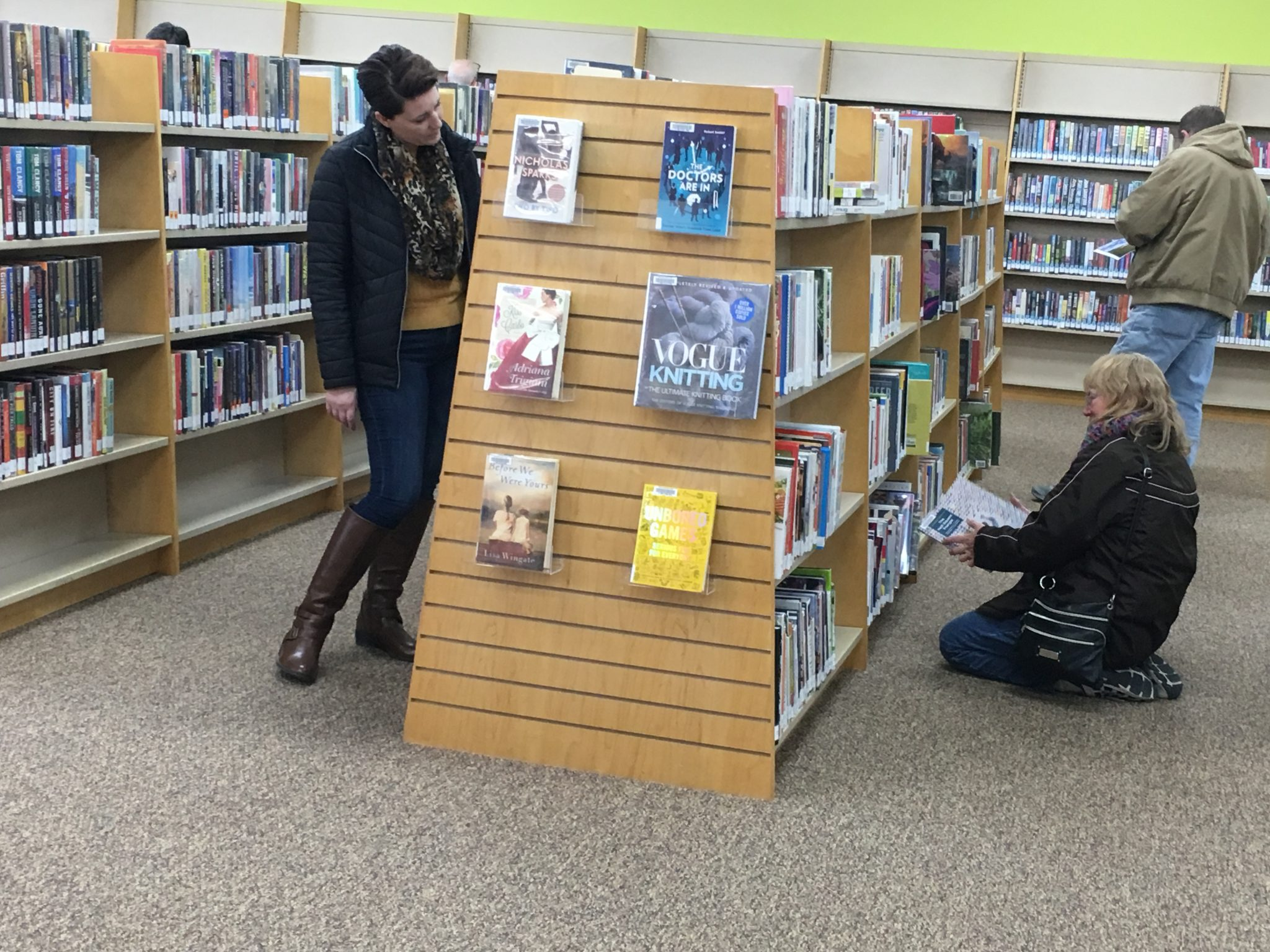 patrons browsing at Holts Summit Public Library