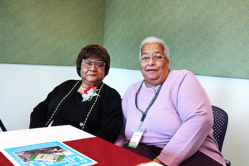 Idenia Thornton and Frances Bush reflect on 50 years of service and friendship at the Columbia Public Library.