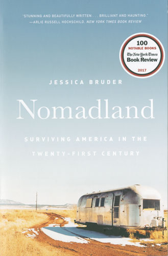 "book cover of ""Nomadland"" by Jessica Bruder"