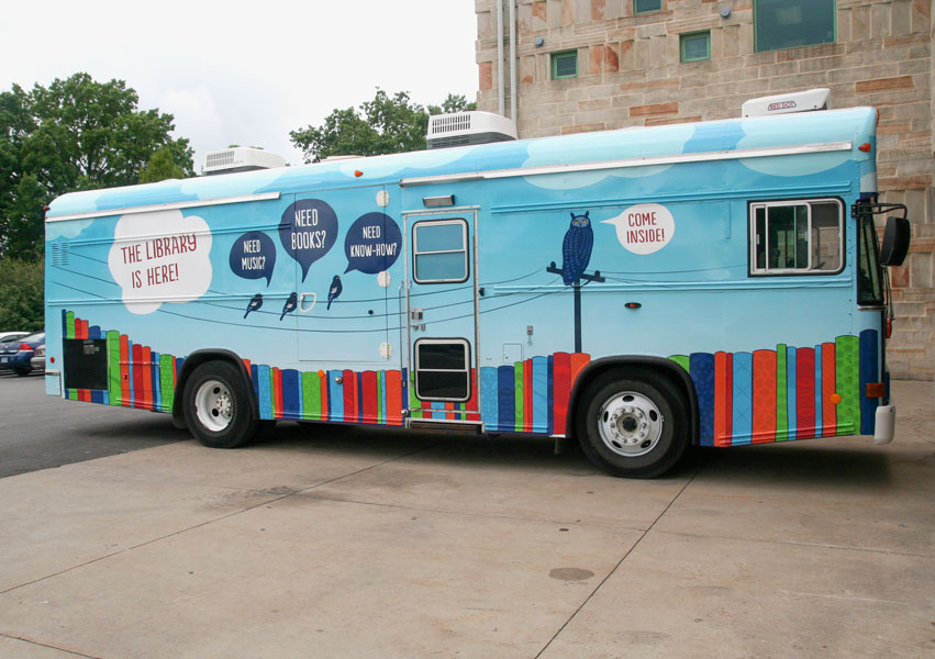 New Trial Bookmobile Stops in Columbia