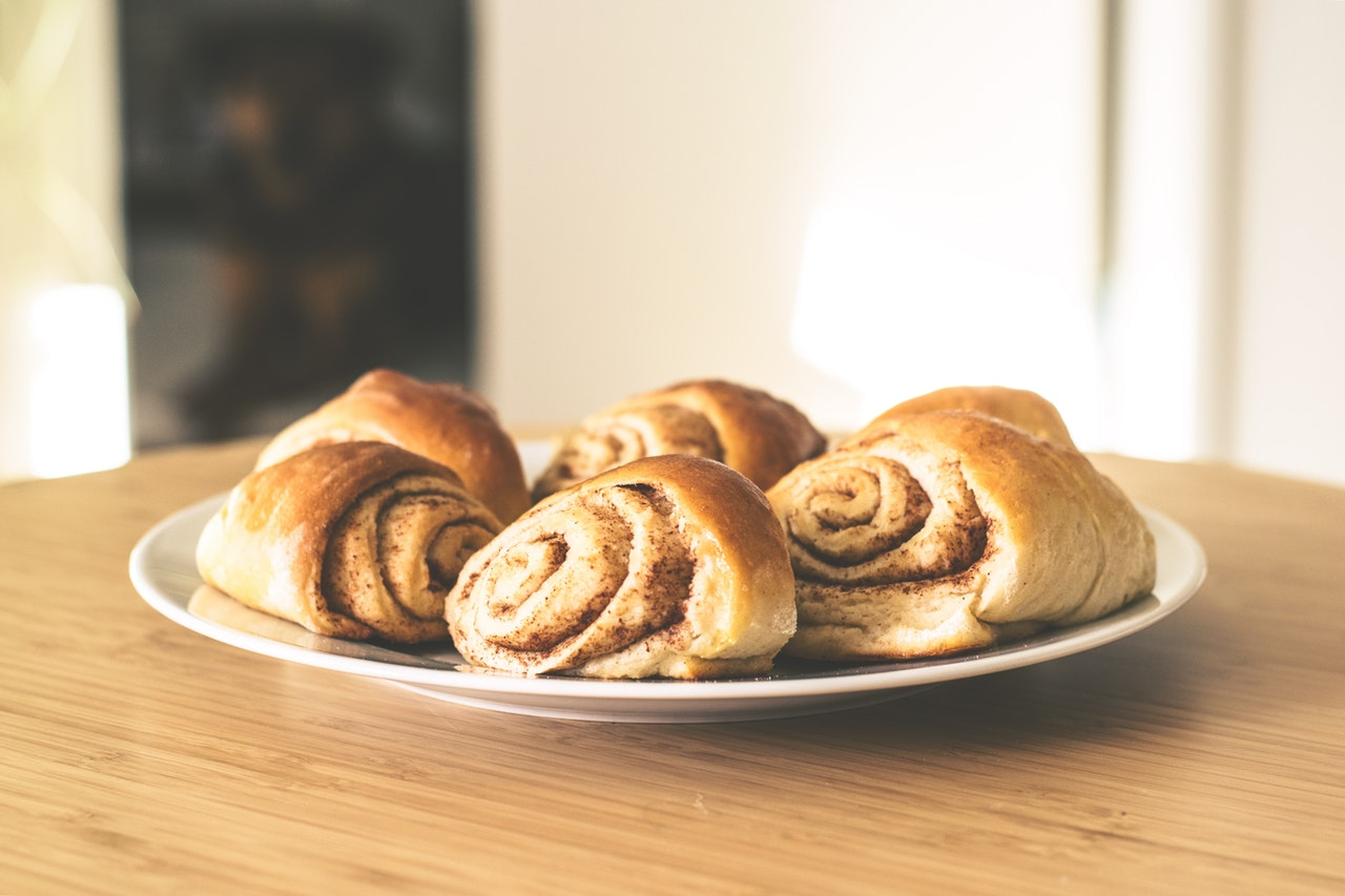 Cinnamon Rolls on Plate