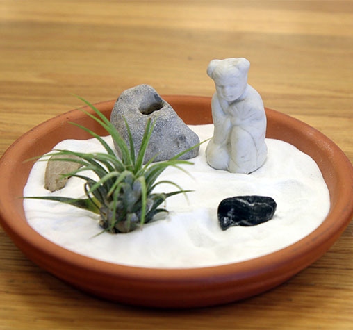 De-stress With a Mini Zen Garden
