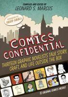 """Comics Confidential"" book cover"