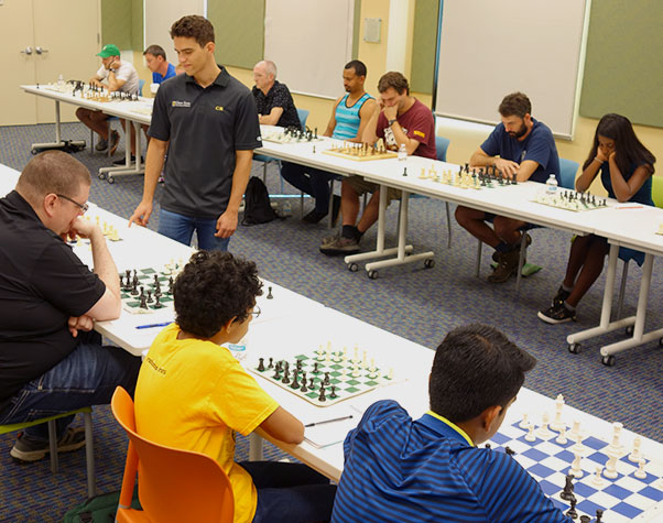 Chess Exhibition With a Grandmaster