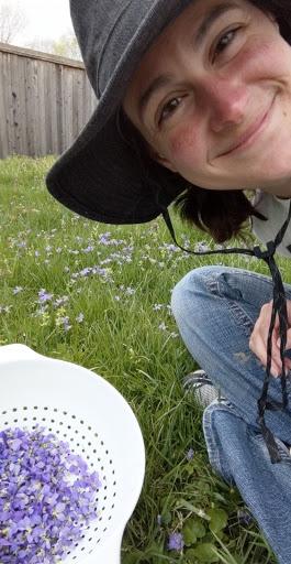 Tess picking violets