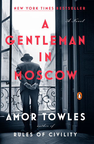 "book cover for ""A Gentleman in Moscow"" by Amor Towles"
