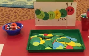 This is a demonstration of the cute caterpillar craft.