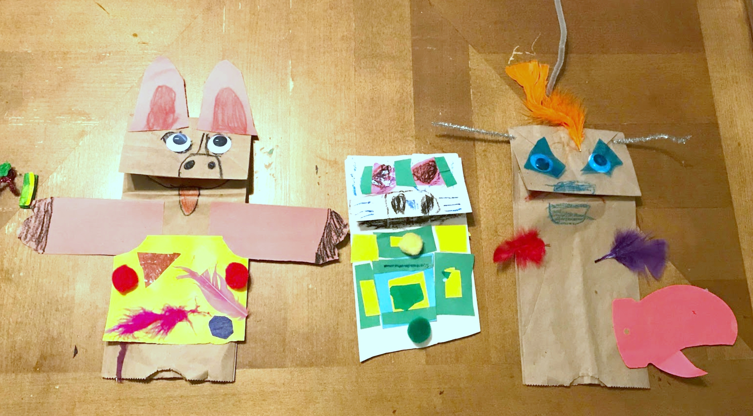 Paper bag puppets
