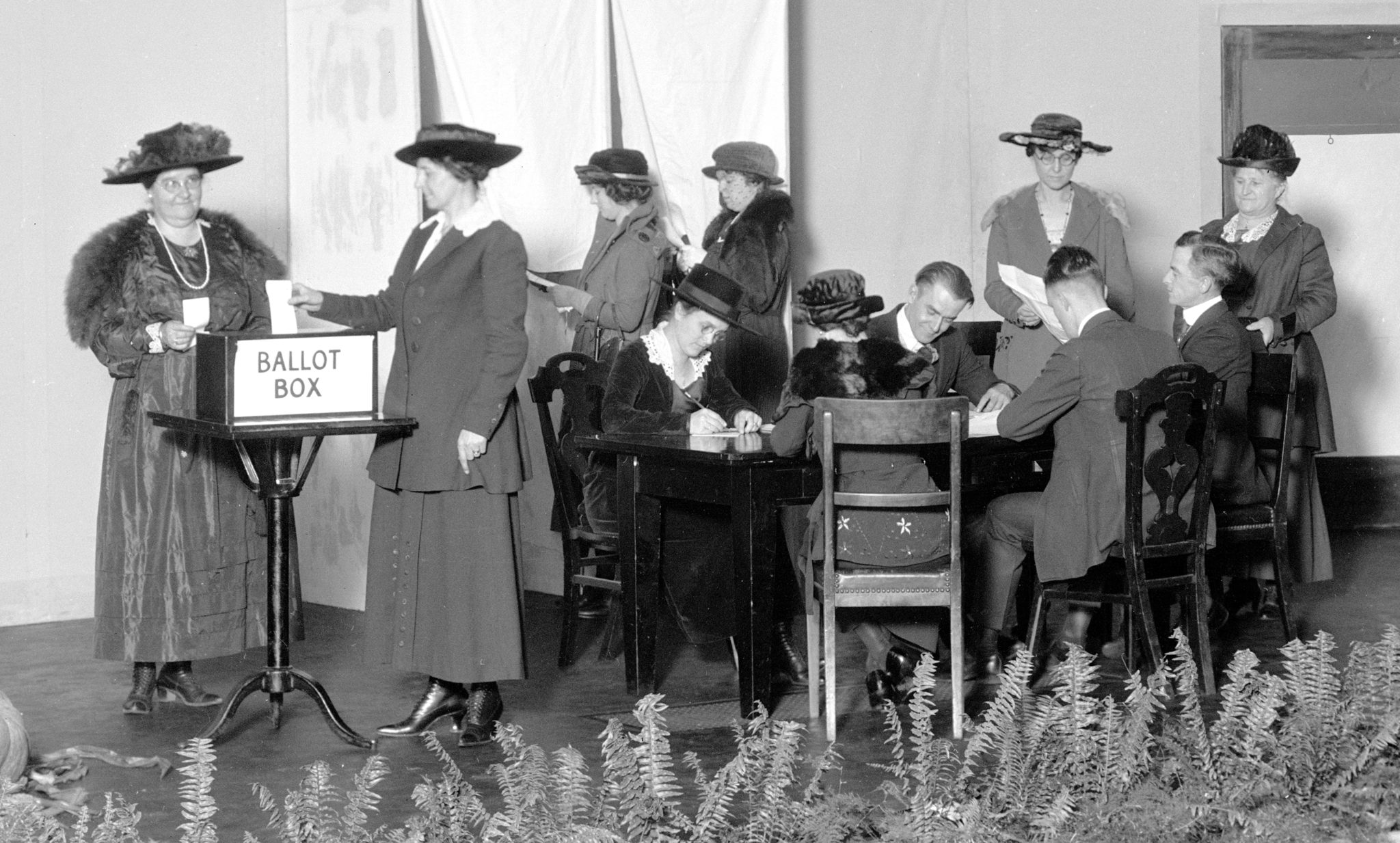 Women Practicing Voting in Dayton, OH on 10/27/1920