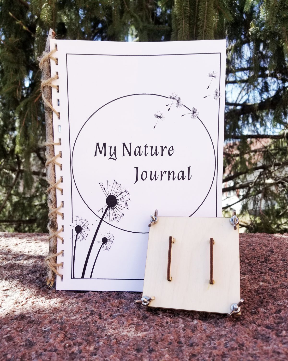 Picture of nature journal and plant press