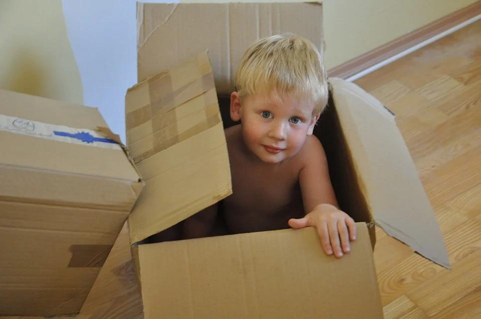 Child in box