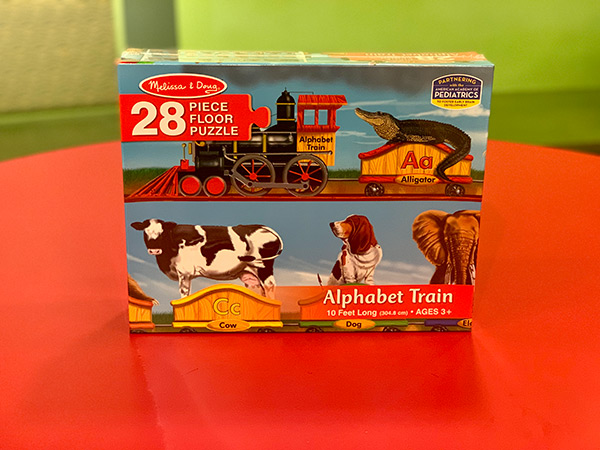 Alphabet Train Jumbo Jigsaw Floor Puzzle