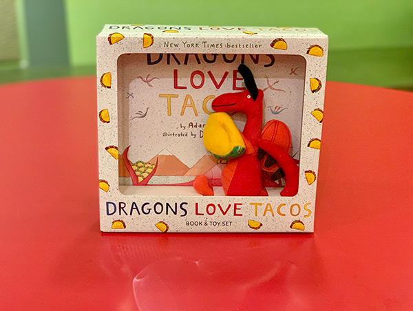 """""""Dragons Love Tacos"""" book with plush"""